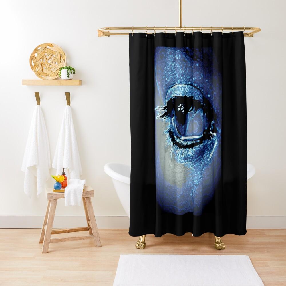 BLUE EYE TEARS Shower Curtain