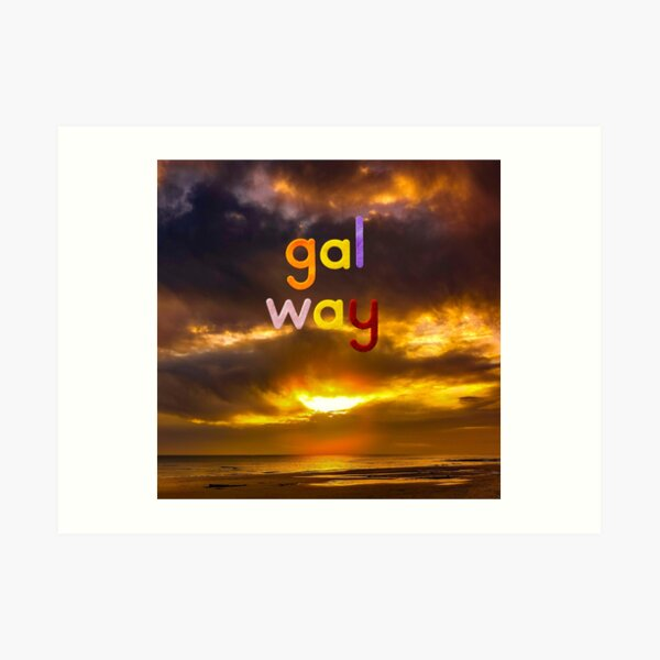 Sunset Over Galway Bay Art Print
