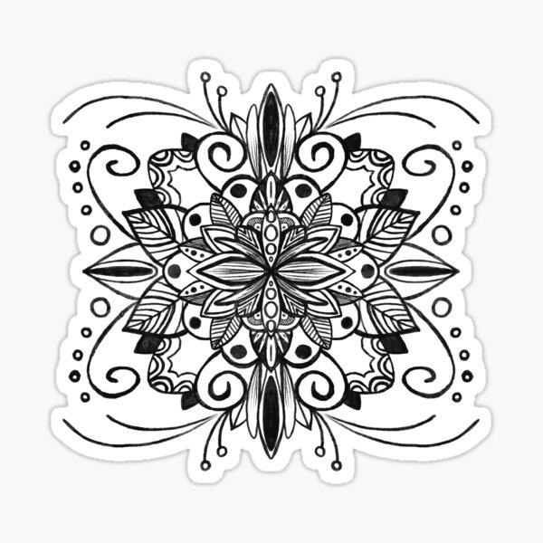 Centered Sticker