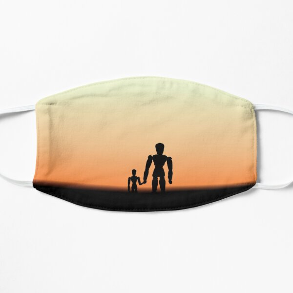 New Day - Sunset with Wooden Puppets Dolls Flat Mask