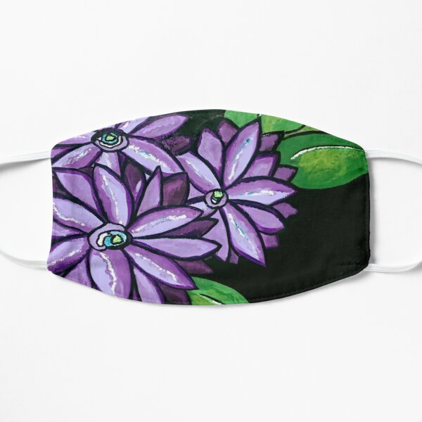 CLEMATIS - PURPLE FLOWERS (Black Background) Mask