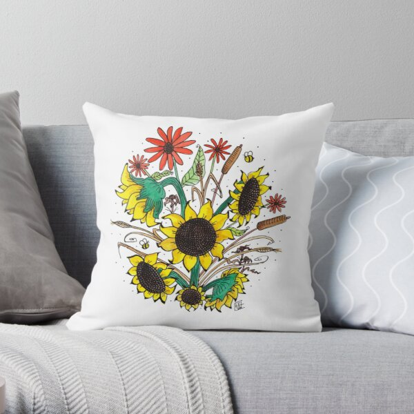 Flower Series #9 Throw Pillow