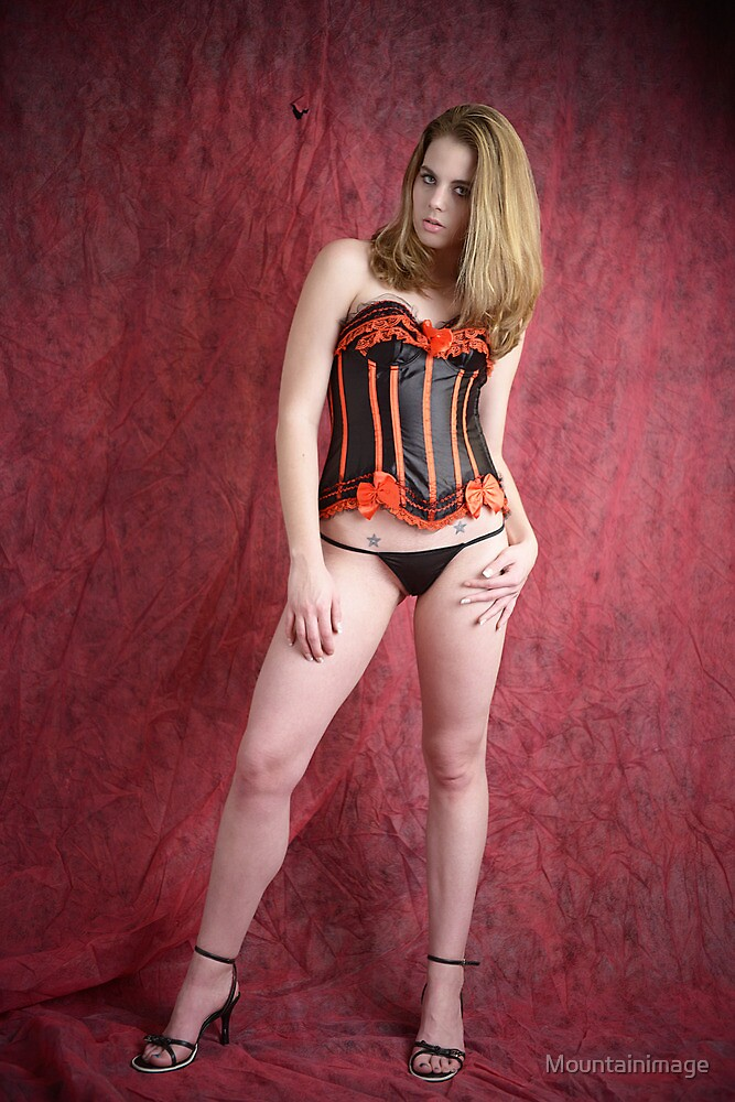 Black and red corset by Mountainimage