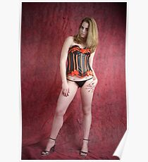 Black and red corset Poster