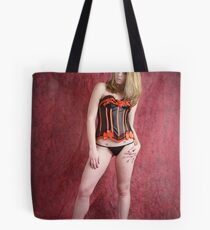 Black and red corset Tote Bag