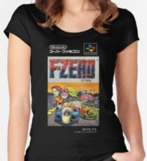F-Zero Nintendo Famicom Box Art (NES) Women's Fitted Scoop T-Shirt
