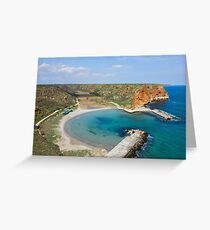 Small Peaceful Beach On Bulgarian Black Sea Coast Greeting Card
