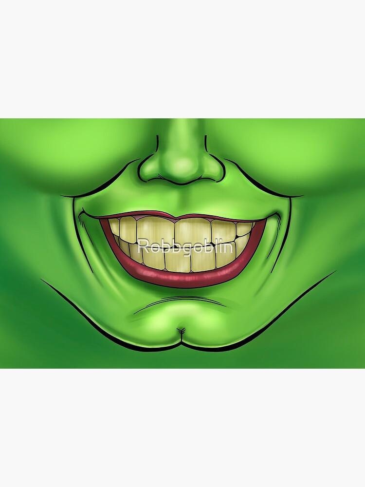 Cartoony Mouth Mask by Robbgoblin