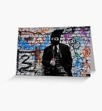 the crayola grafitti bandit   Greeting Card