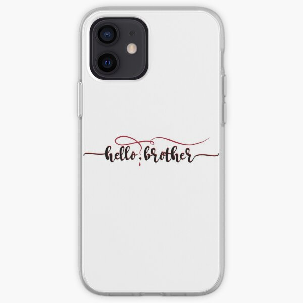 Vampire Diaries Quote - Hello Brother - Damon and Stefan iPhone Soft Case
