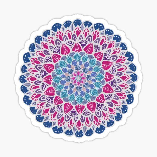 Blue, Purple, and Pink Mandala Sticker