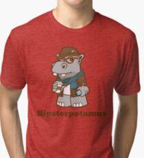 Hipsterpotamus Tri-blend T-Shirt