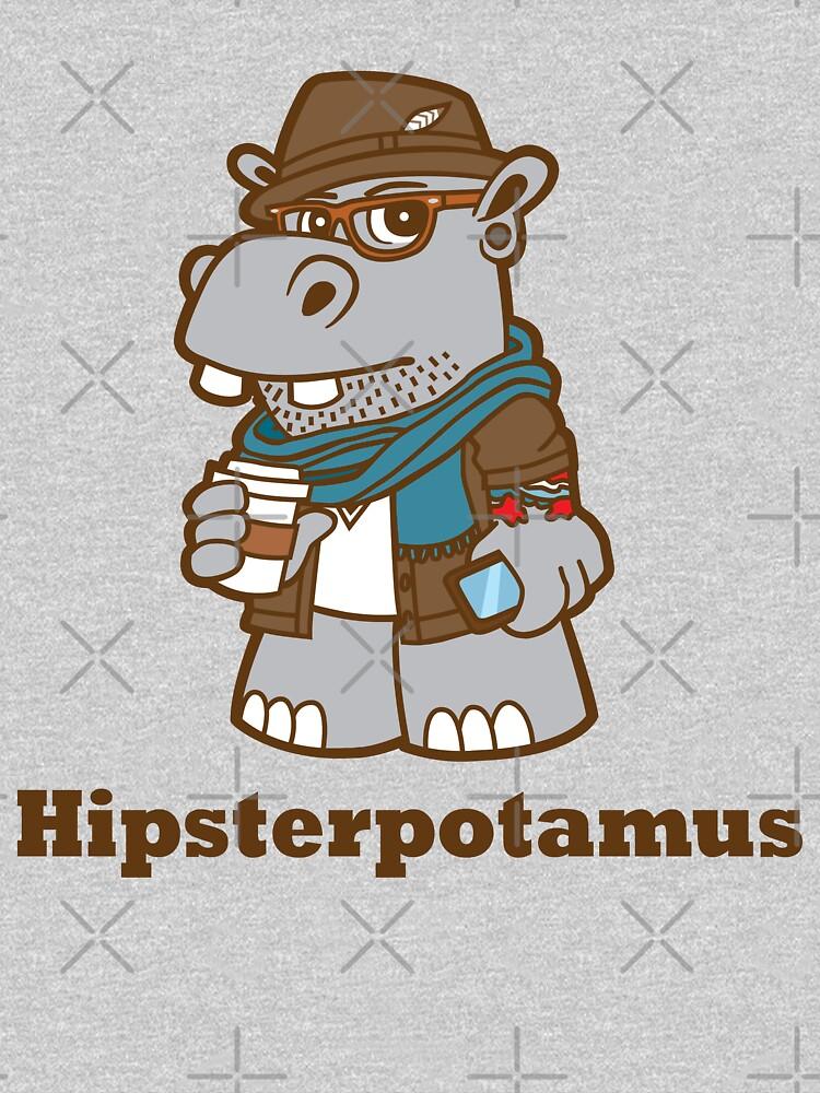 Hipsterpotamus by DetourShirts