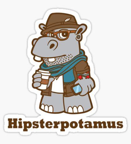 Hipsterpotamus Sticker