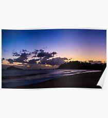 Sunrise from Ellis Beach Poster
