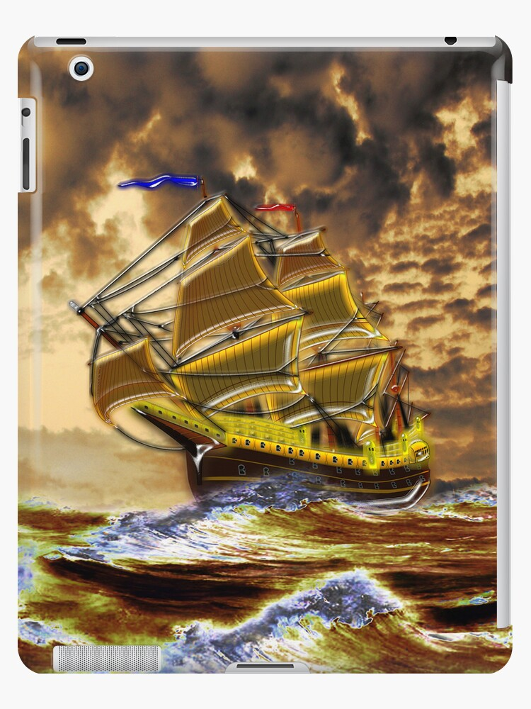 Ship of the Line iPad case by Dennis Melling