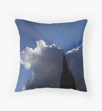Gloria in Excelsis (with Crane) Throw Pillow