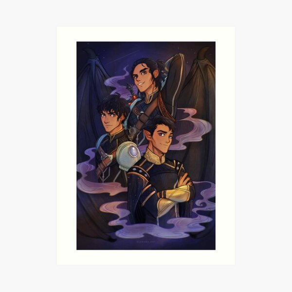 Rhysand, Cassian and Azriel, WINGSPAN Art Print