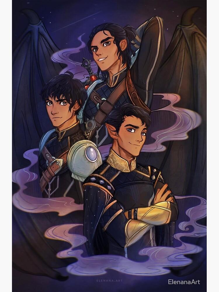 Rhysand, Cassian and Azriel, WINGSPAN by ElenanaArt