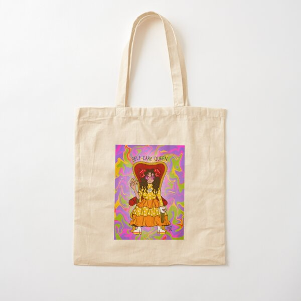 Self-Care Queen Cotton Tote Bag