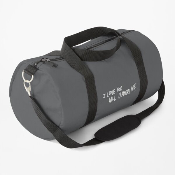"""""""I love you will you marry me"""" Duffle Bag"""