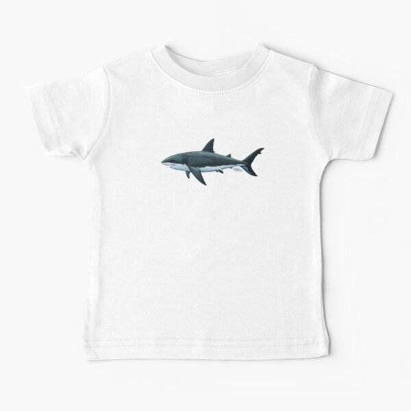 Carcharodon carcharias by Amber Marine, great white shark illustration, art © 2015 Baby T-Shirt