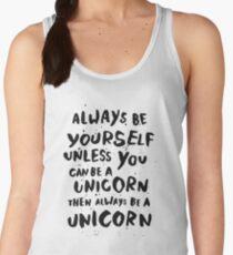 Be unicorn - black Women's Tank Top