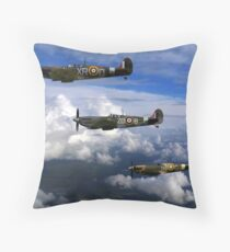 Spitfire formation in flight Throw Pillow