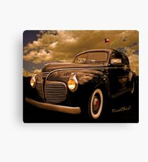 41 Plymouth Two-Door Canvas Print