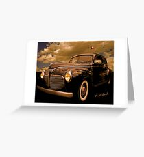 41 Plymouth Two-Door Greeting Card