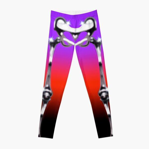 Airbrush Chrome Plum Skeleton Leggings Leggings