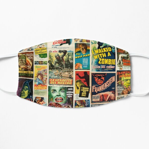 Classic Horror Movie Poster Montage Mask