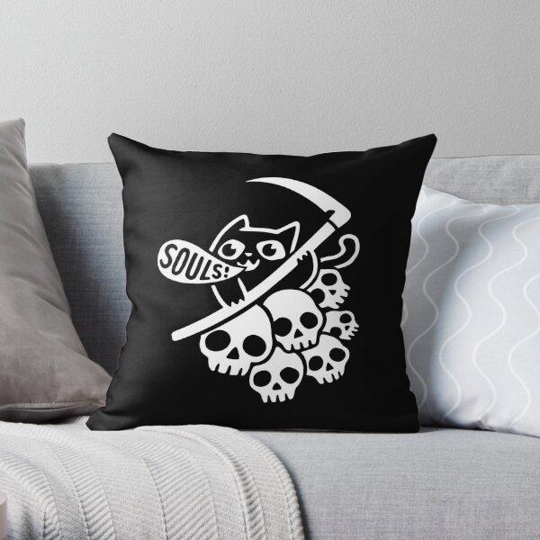 Cat Got Your Soul? II Throw Pillow