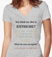 Extreme Diet Women's Fitted V-Neck T-Shirt