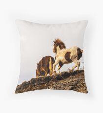 Icelandic Pony. Throw Pillow