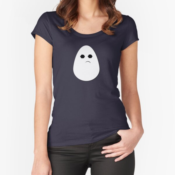 Feeling Wonky, a cute egg Fitted Scoop T-Shirt