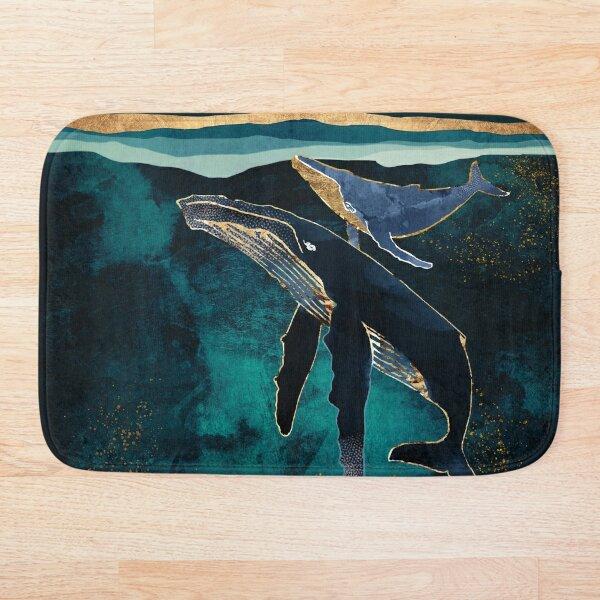 Moonlit Whales Bath Mat