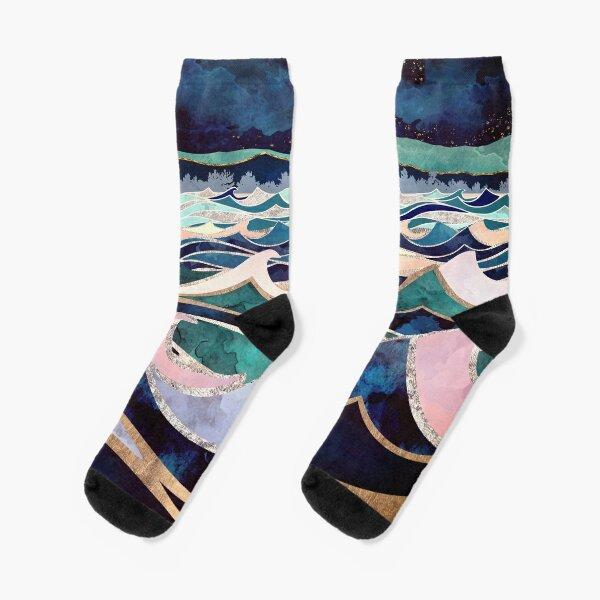 Moonlit Ocean Socks