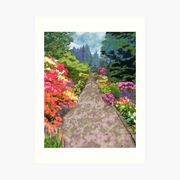 Garden Path - Image to symbollically widen a hallway or staircase Art Print