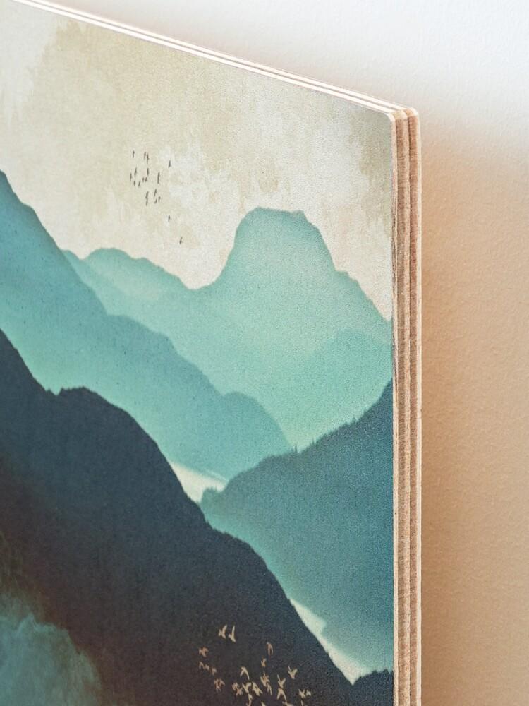 Alternate view of Indigo Mountains Mounted Print