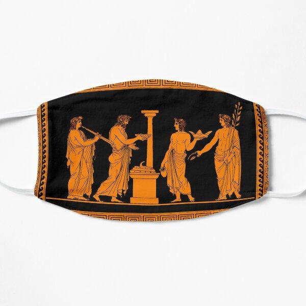 Red figure Greek vase offering scene Flat Mask