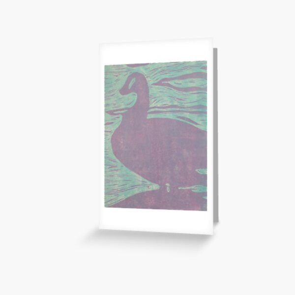 Duck Relief Print Greeting Card