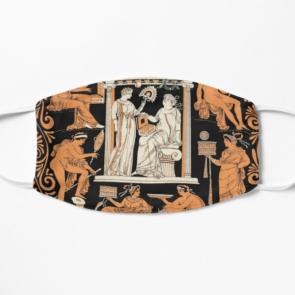 Greek vase print Flat Mask