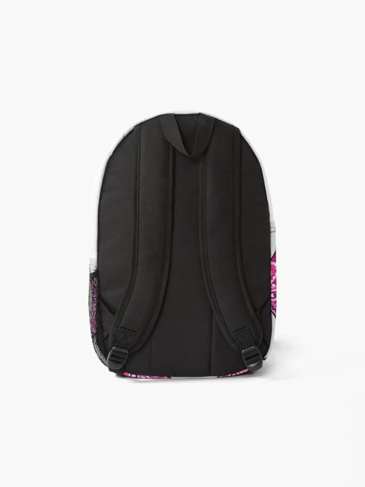 Alternate view of Pink Bandana Monogram Letter D Backpack