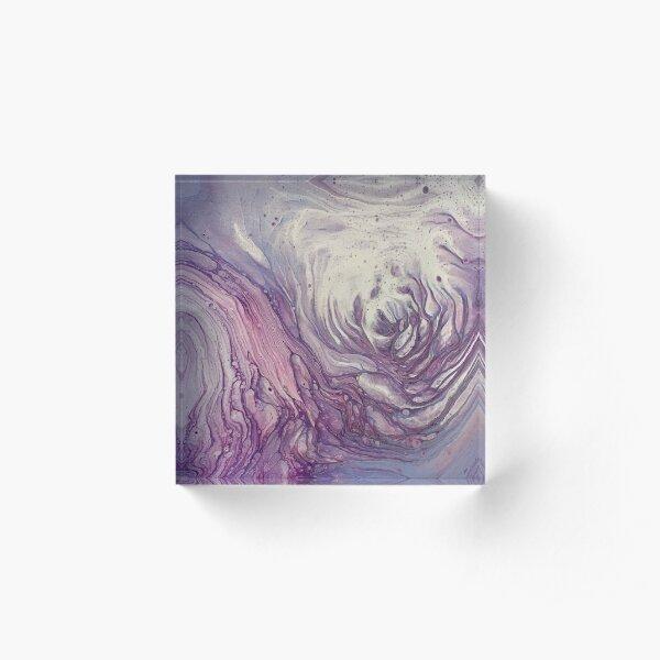 Purple Abyss Acrylic Block