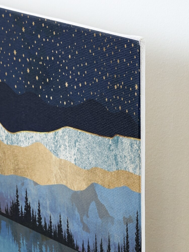 Alternate view of Midnight Lake Mounted Print