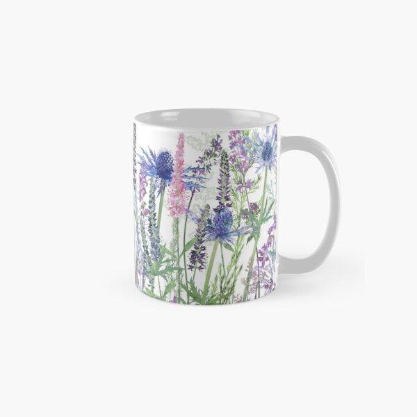 Flower Meadow - Sea Holly, Veronica Flowers, Catmint, Grasses Classic Mug