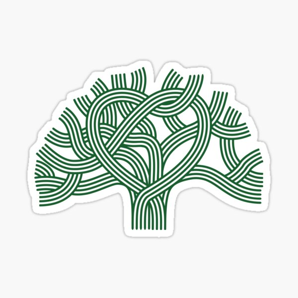 Oakland Love Tree (Green) Sticker