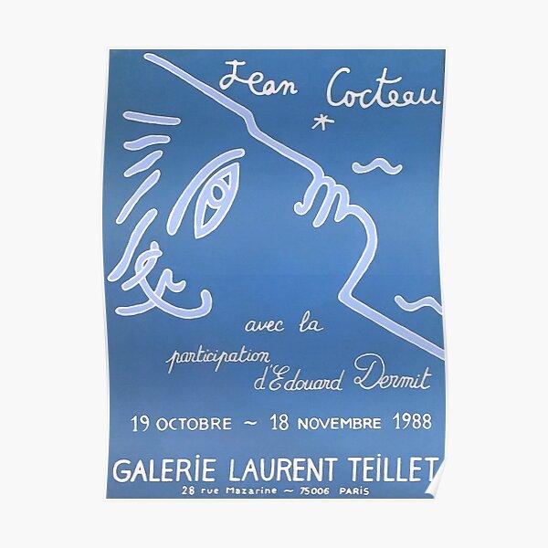 Jean Cocteau Exhibition Poster Poster