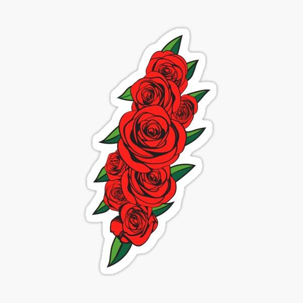 Dead Bolt Roses  Sticker